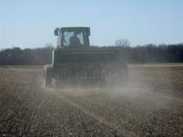 Drill seeding of forages