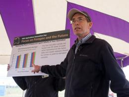 Dr. Mark Sulc discusses research results on reduced lignin alfalfa